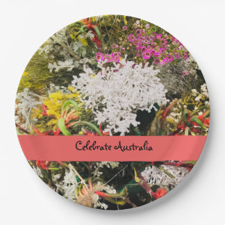 Australian Native Wildflowers Paper Plate
