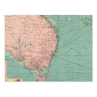 Australian, New Zealand ports Postcard