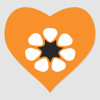 Australian Northern Territory Flag Heart Sticker