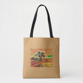 Australian Ochre Landscape Tote Bag