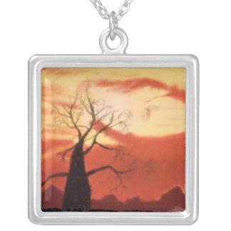 Australian Orange Sunset Necklace