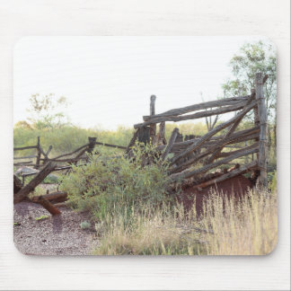Australian Outback Cattle Yard Mouse Pad