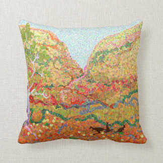 Australian outback landscape art cushion