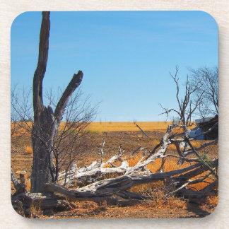Australian outback landscape drink coaster set