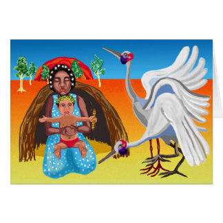 Australian outback Madonna and child Card