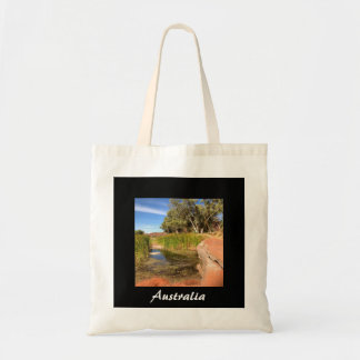 Australian outback photo tote bag