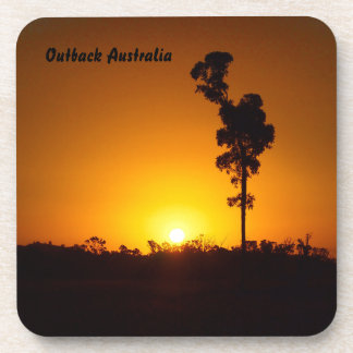 Australian outback sunset coaster set