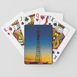Australian outback sunset playing cards