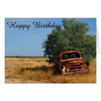 Australian outback truck blank birthday card