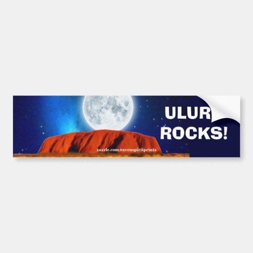 AUSTRALIAN OUTBACK ULURU Bumper sticker