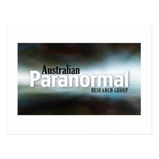 Australian Paranormal Research Group  Merchandise Postcard