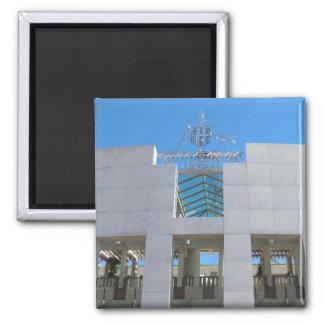 Australian Parliament - Canberra Square Magnet