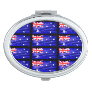 Australian Patriotic Flag of Australia for Aussies Vanity Mirrors