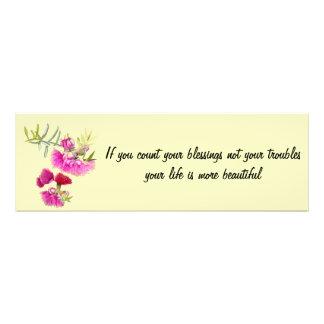 Australian Pink Gumnut Flower Inspirational Quote Photo Art
