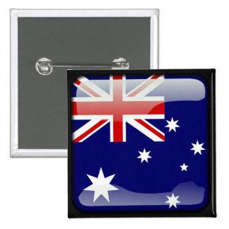 Australian polished 15 cm square badge