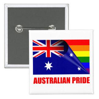Australian Pride LGBT Rainbow Flag 15 Cm Square Badge