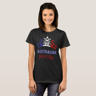 Australian Princess Tiara National Flag T-Shirt