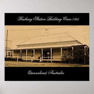 Australian Railway Station circa 1865-Poster Poster