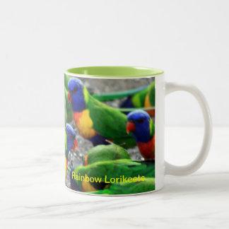Australian Rainbow Lorikeets Two-Tone Coffee Mug
