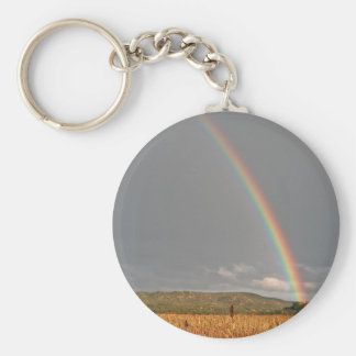 Australian rainbow over the Gold Coast Keychains