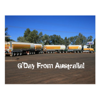 Australian Road Train Truck Postcard