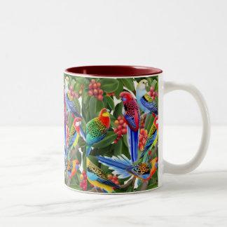 Australian Rosella Parrots Mug