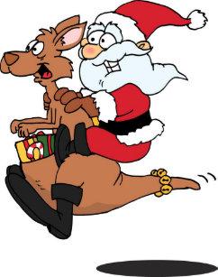 Christmas Kangaroo Cartoon.Kangaroo Christmas Cards Zazzle Au