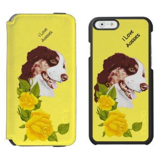 Australian Shepherd and Yellow Roses 6 Wallet Incipio Watson™ iPhone 6 Wallet Case