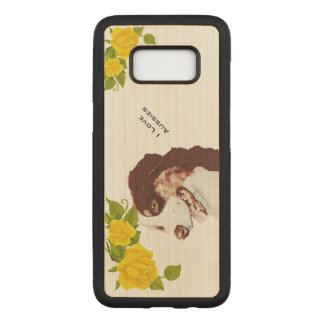 Australian Shepherd and Yellow Roses S8 Carved Samsung Galaxy S8 Case