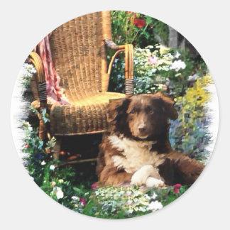 Australian Shepherd Art Gifts Round Sticker