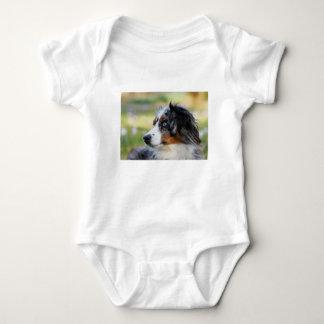 australian-shepherd baby bodysuit