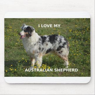 australian shepherd blue merle love w pic mouse pad