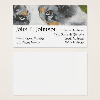 Australian Shepherd ~ Blue Merle Portrait Business Card