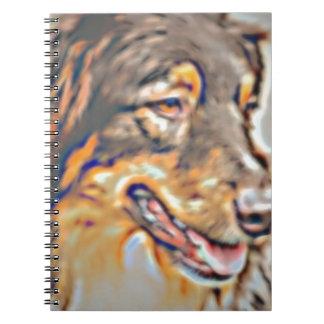 Australian Shepherd Cartoon Spiral Notebook
