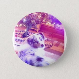 Australian Shepherd Christmas 6 Cm Round Badge