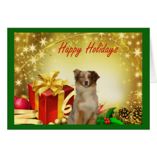 Australian Shepherd Christmas Card Gifts