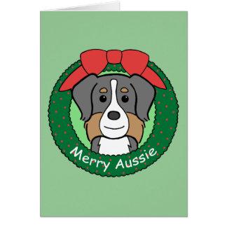 Australian Shepherd Christmas Greeting Card