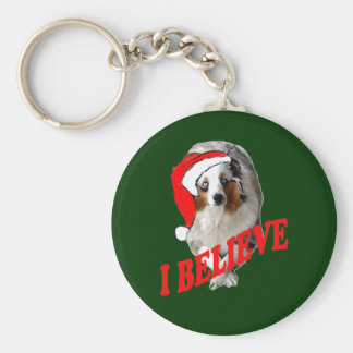 Australian shepherd Christmas Key Ring