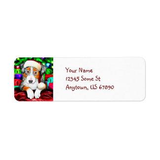Australian Shepherd Christmas Labels