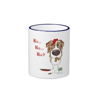 Australian Shepherd Christmas Coffee Mugs