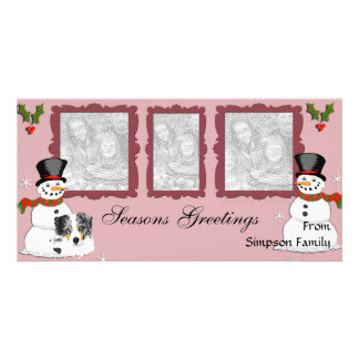 Australian Shepherd Christmas Photocard Picture Card