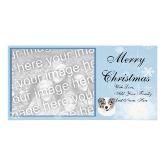 Australian Shepherd Christmas Photocard Picture Card