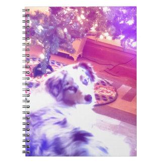 Australian Shepherd Christmas Spiral Notebook