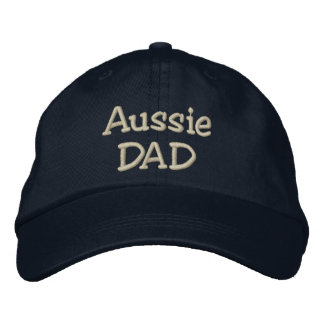 Australian Shepherd Dad Gifts Embroidered Hat