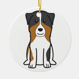 Australian Shepherd Dog Cartoon Ceramic Ornament