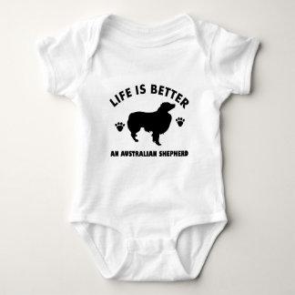 Australian Shepherd dog design Baby Bodysuit
