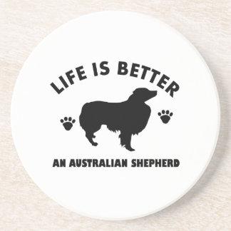 Australian Shepherd dog design Beverage Coasters