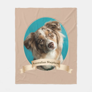 Australian Shepherd Fleece Blanket
