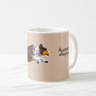 Australian Shepherd, jumping, talk Coffee Mug