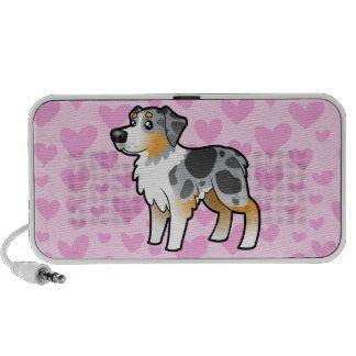 Australian Shepherd Love (add your own pattern) Travel Speaker
